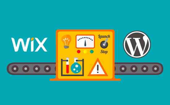 Premakni Wix v WordPress