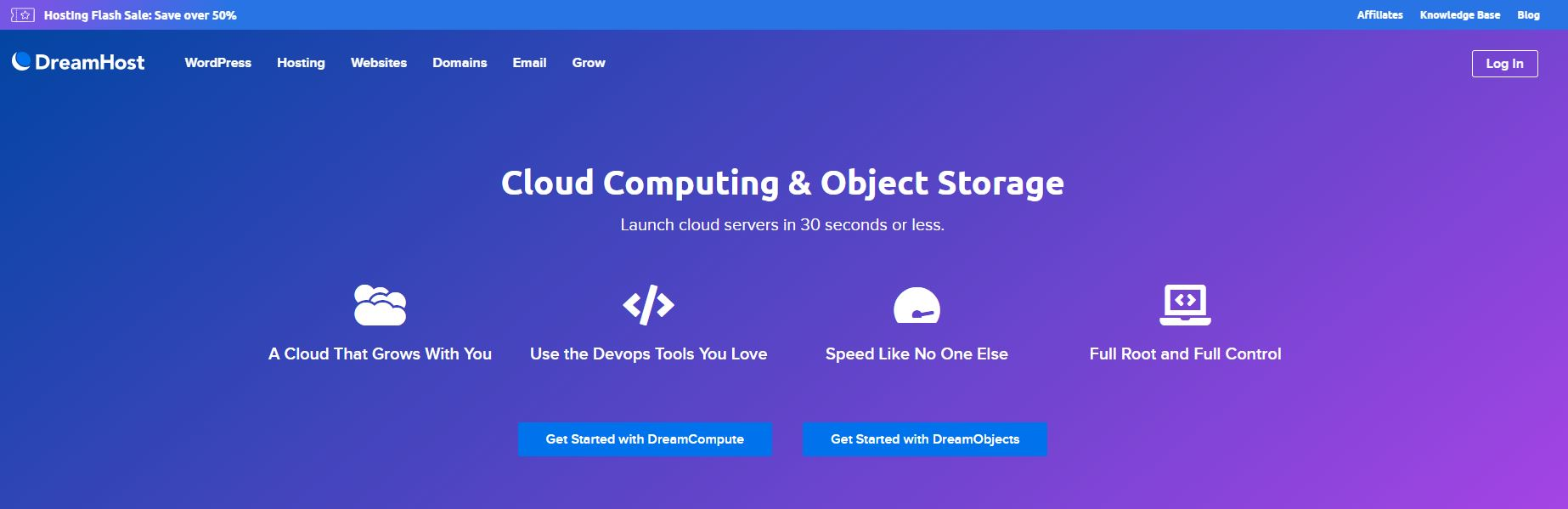 Cloud hosting DreamHost