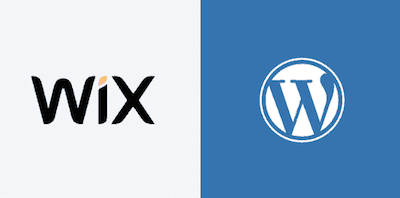 wix vs wordpress ლოგო