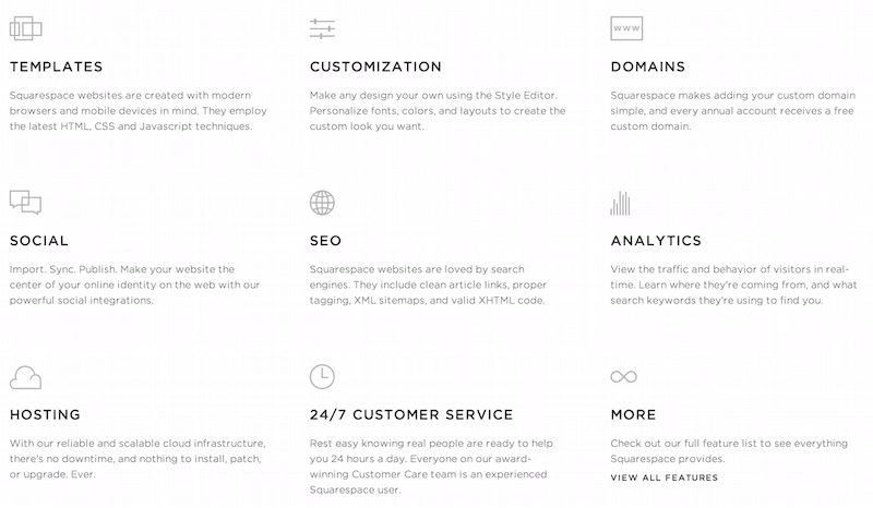Squarespace-Features