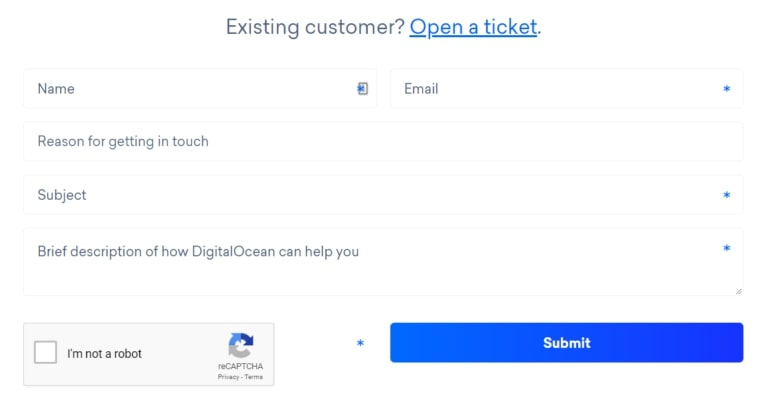DigitalOcean-kliëntediens
