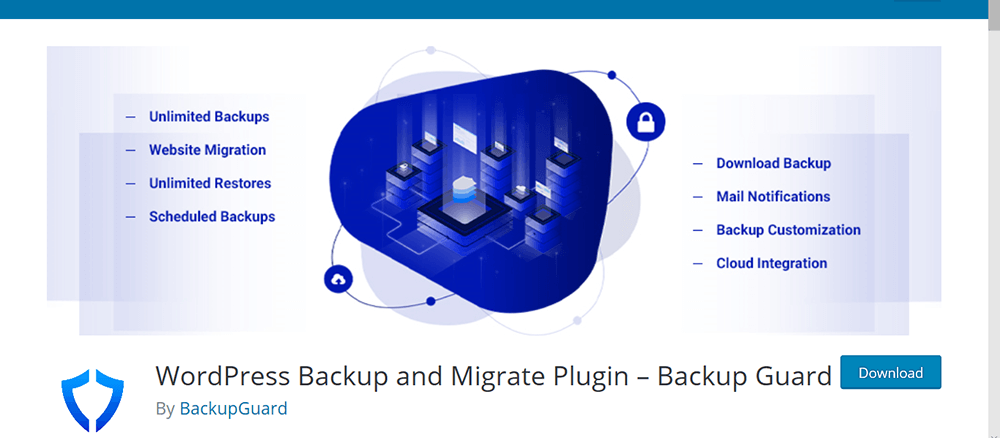 Wordpress backup migrere