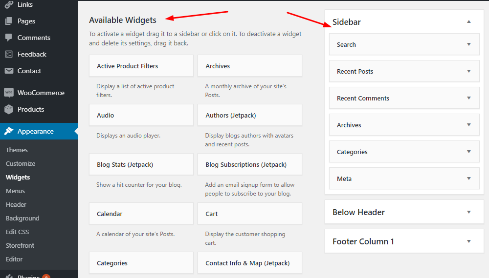 WP Sidebar Widgets