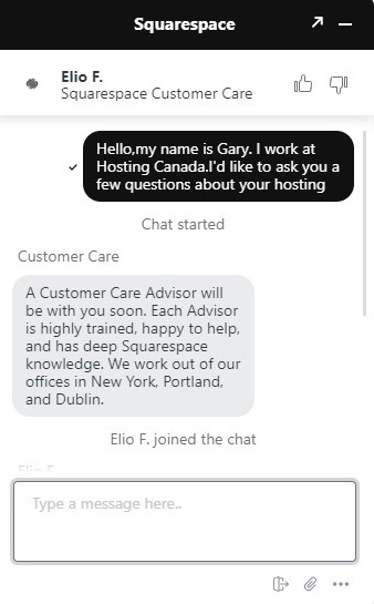 squarespace support chat