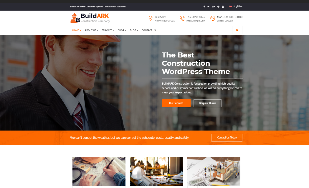 BuildArk Business WP Teması