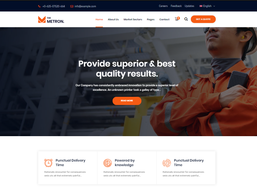 Metron WordPress Theme
