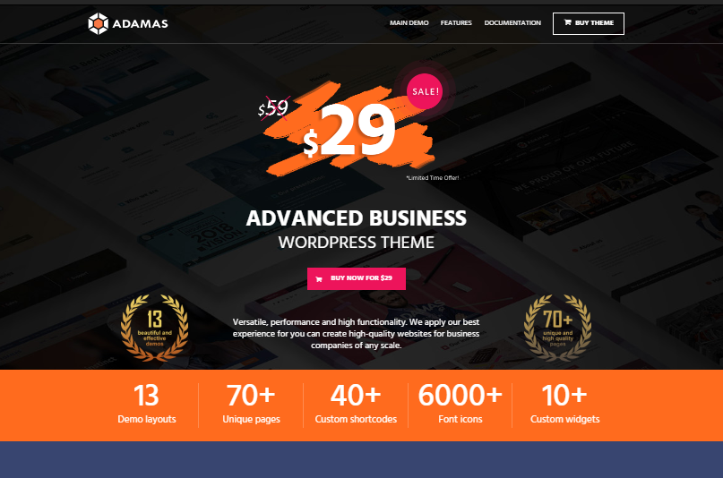 Adamas Business WordPress-thema