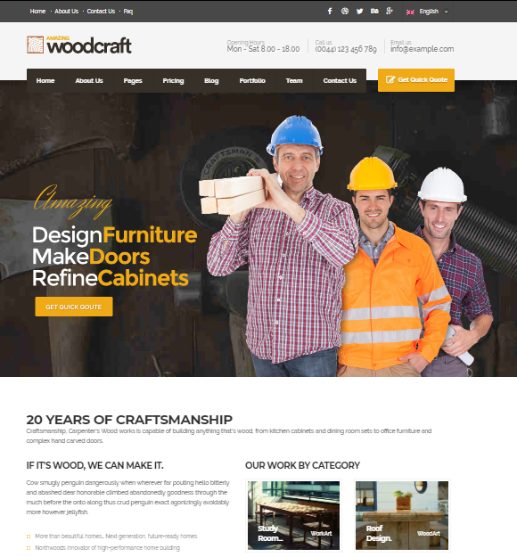 Carpenter Business WP Theme