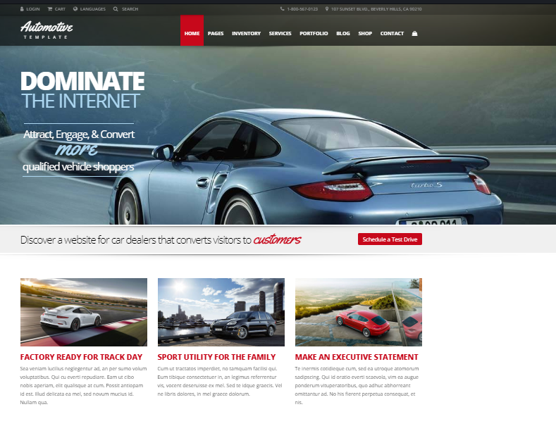 Automotive Car Dealership WP Theme