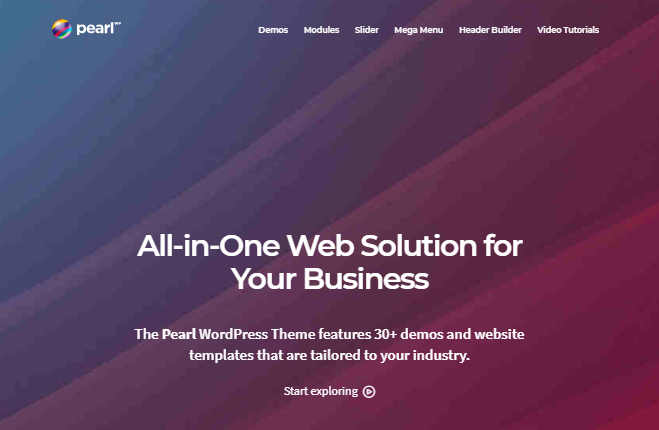 Pearl WordPress-thema