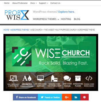Wise Church WP tema