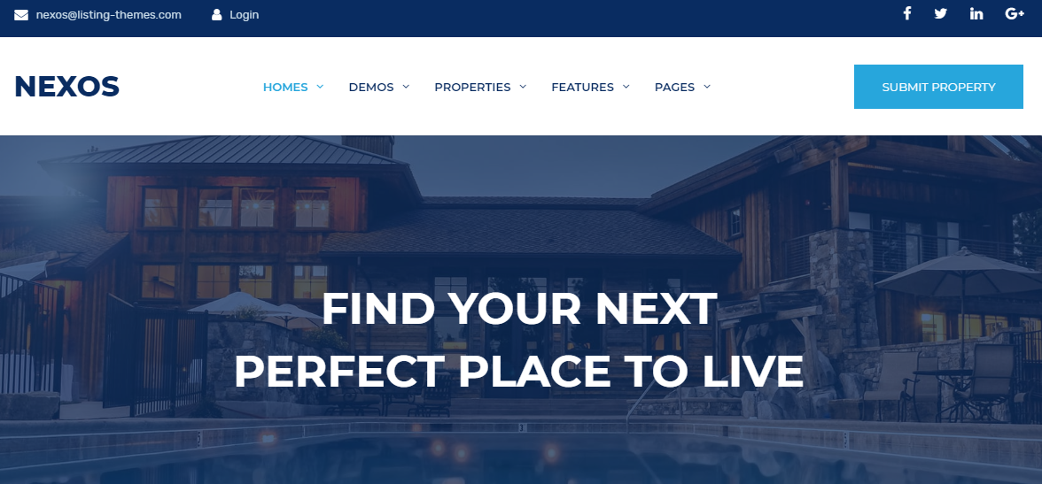 Nexos Real Estate WordPress Theme