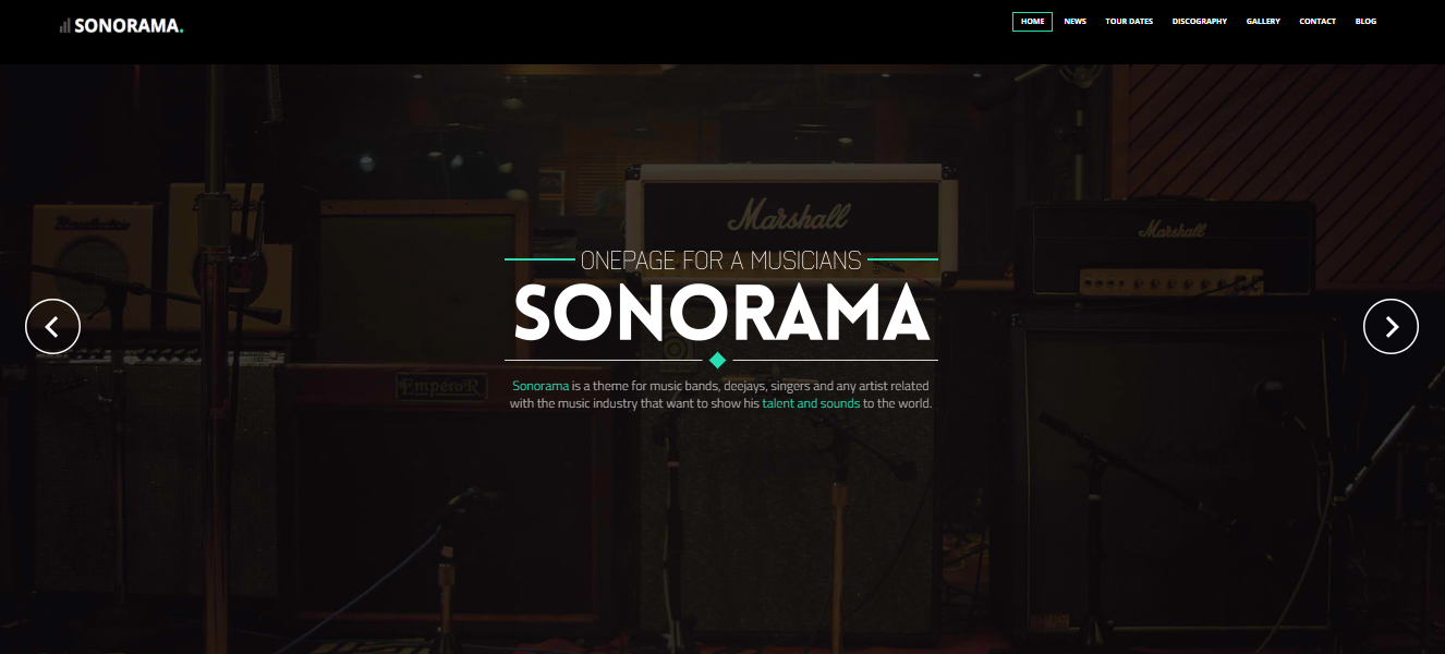Sonorama WP-tema for musikere