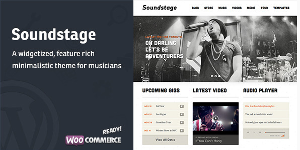 SoundStage WordPress Theme für Musiker