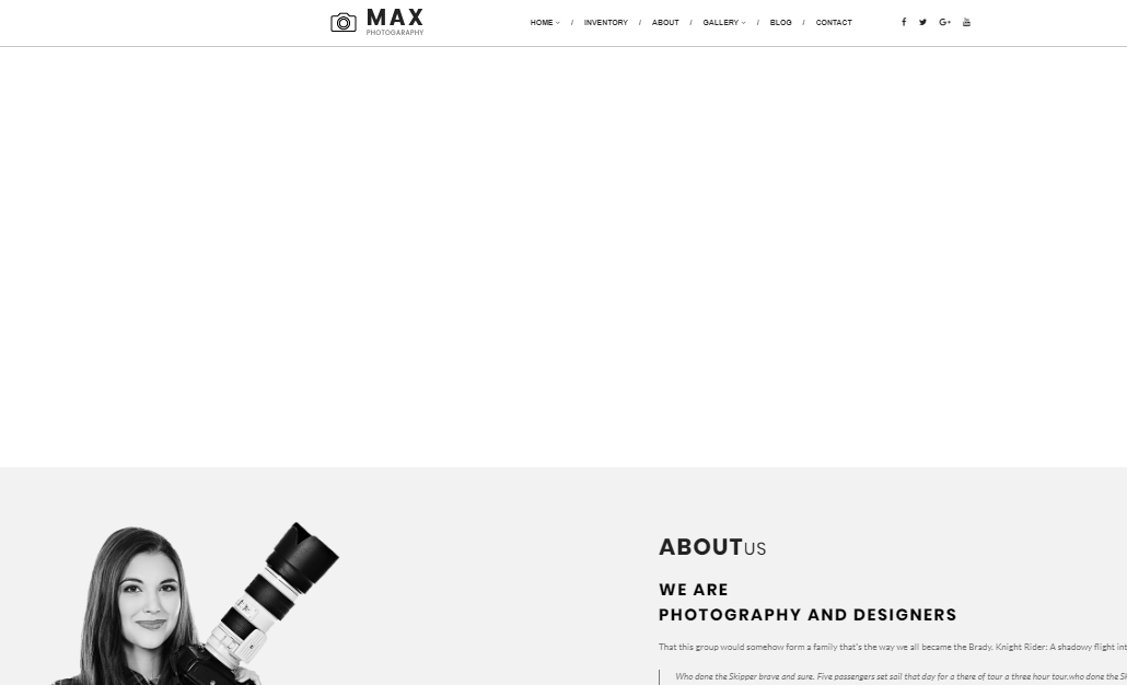 Max Photo WordPress tema