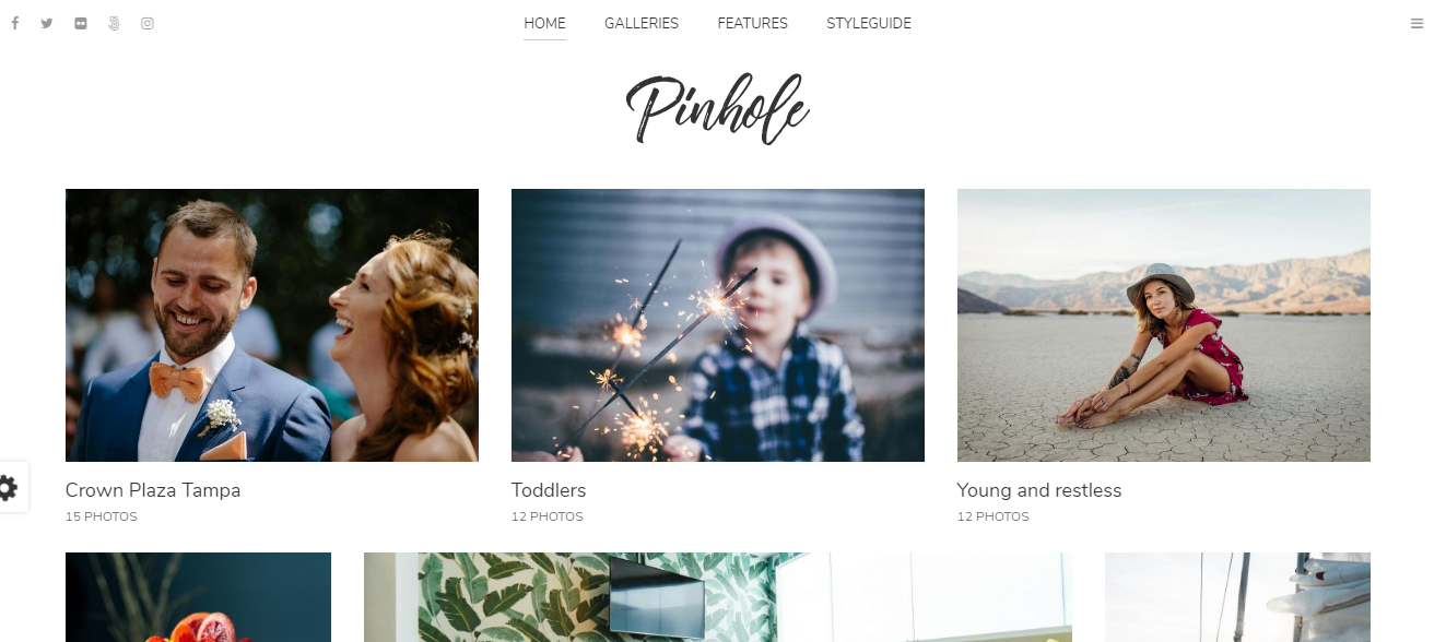 Pinhole Photography WordPress Tema